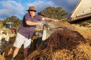 Biodynamic Composting.  Photo credit: By Mark Smith [CC-BY-2.0 (http://creativecommons.org/licenses/by/2.0)], via Wikimedia Commons