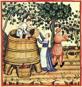 Image in Public Domain.  Source: http://commons.wikimedia.org/wiki/File:29-autunno,Taccuino_Sanitatis,_Casanatense_4182..jpg